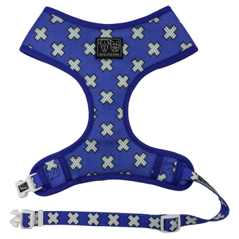 Classic Mesh Dog Harness Blue Xs Nordic Crosses