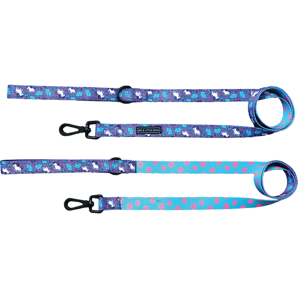 Dog Leash for Big and Small Dogs Cloudland Unicorns and Clouds