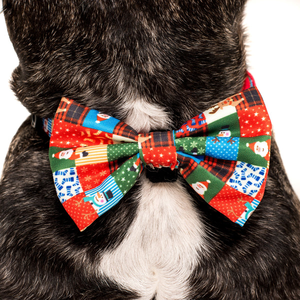 Dog Collar and Bow Tie Silly Season Christmas Quilt Santa
