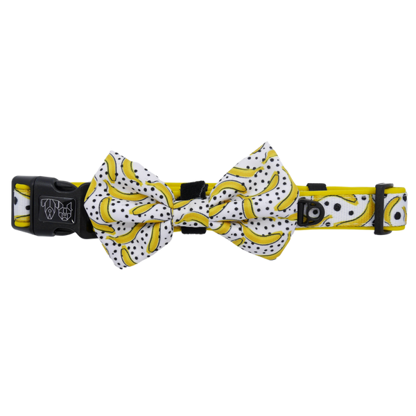 Dog Collar and Bow Tie Going Bananas