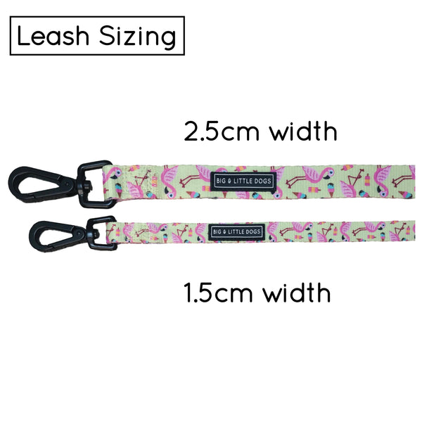 Dog Leash for Big and Small Dogs Flamingo Ice Cream Stargazing Stars