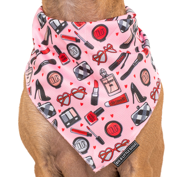 Dog Cooling Neckerchief Bandana Girl Boss Make Up Girly