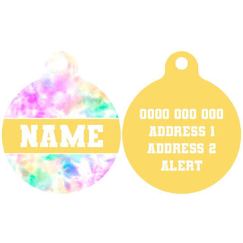Pet ID Tag | Cotton Candy (Yellow)