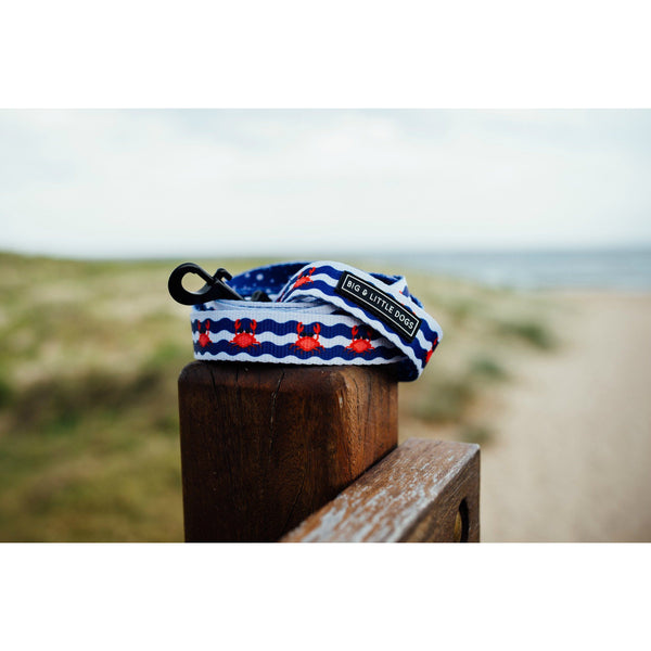Crabby and Nautical Dual Sided Neoprene Lined Dog Leash