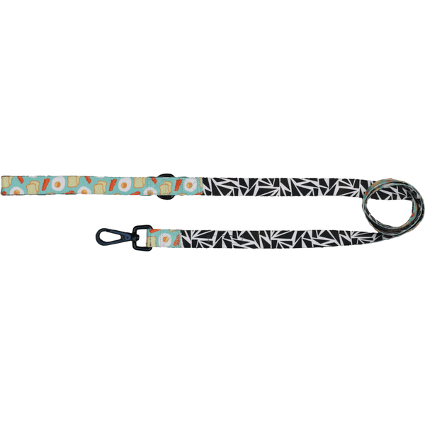 Cracked Up and Sunny Side Up Neoprene Lined Dog Leash Lead Reverse View
