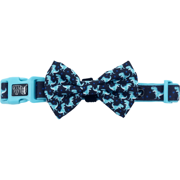 Dino-Mite Dinosaur Comfort Dog Collar and Bowtie