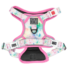 All Rounder Dog Harness Cotton Candy Pastel Tie Dye Pattern