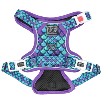 All Rounder Dog Harness Scaled Back Scales Pattern