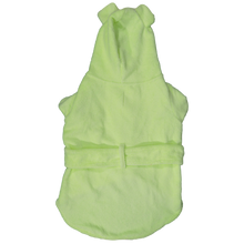 Dog Bath Robe Lime