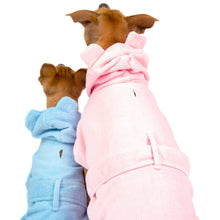 Dog Bath Robe Baby Blues and Pretty In Pink