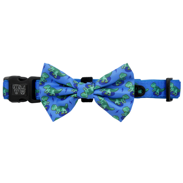 Comfort Dog Collar with Bow Tie Rawr Dinosaur