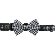 Dog Collar and Bow Tie Houndstooth Squad White and Black