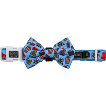 Dog Collar and Bow Tie Lights Camera Action Movie Themed Popcorn Tickets Drinks