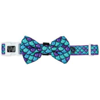 Dog Collar and Bow Tie Scaled Back Scales Pattern