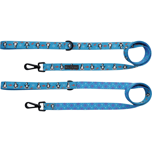 Comfort Dog Leash Every Day I'm Waddlin Penguins and Snowflakes