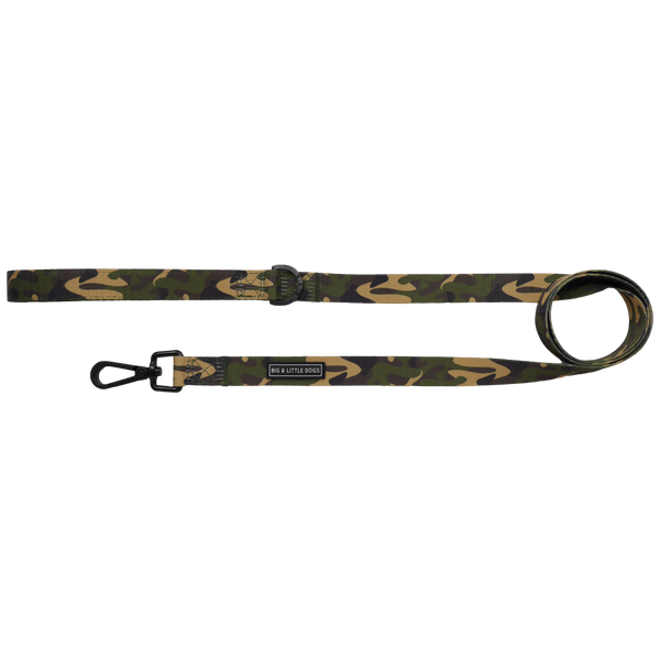 Comfort Dog Leash Green Camo