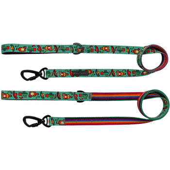 Dog Comfort Leash with Padded Handle Mexican Cactus Sombreo