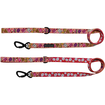 Dog Comfort Leash with Padded Handle Slumber Party Pyjamas Popcorn Nail Polish Pizza