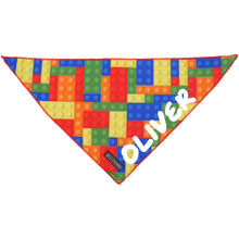 Dog Neckerchief Bandana Blocktastic Blocks