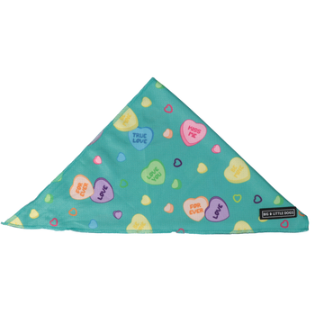 Dog Cooling Bandana Conversation Hearts Valentines Day