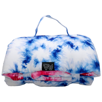 On The Go Pet Mat Pink and Blue Tie Dye