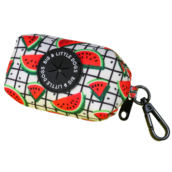 Dog Poop Bag Holder with bags A Slice of Summer Watermelons