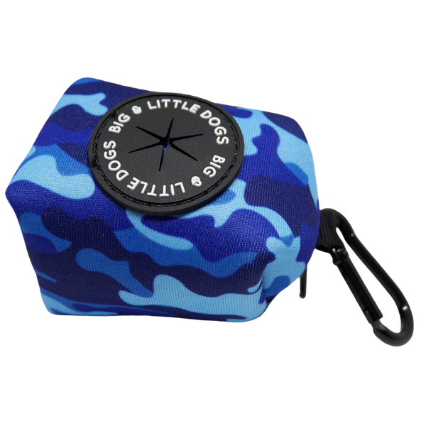 Poop Bag Holder Blue Camo