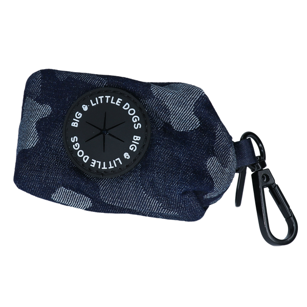 Dog Poop Bag Holder Denim Camo Fabric