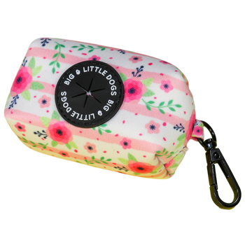 Dog Poop Bag Holder with bags Pretty as can Bee Floral