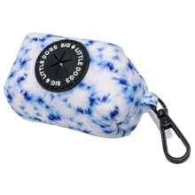 Dog Poop Bag Holder Tie Dye Blue