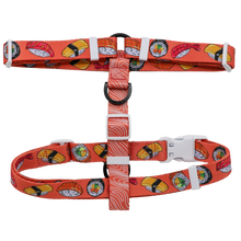 Dog Strap Harness with Front Clip Sushi Sashimi