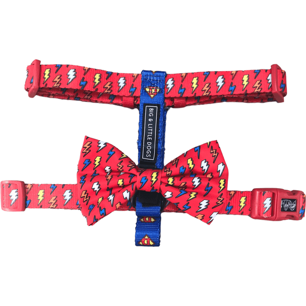 Dog Strap Harness for Big and Small Dogs Lightning Bolts Super Dog