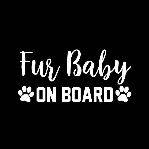 BUMPER STICKER: FUR BABY ON BOARD