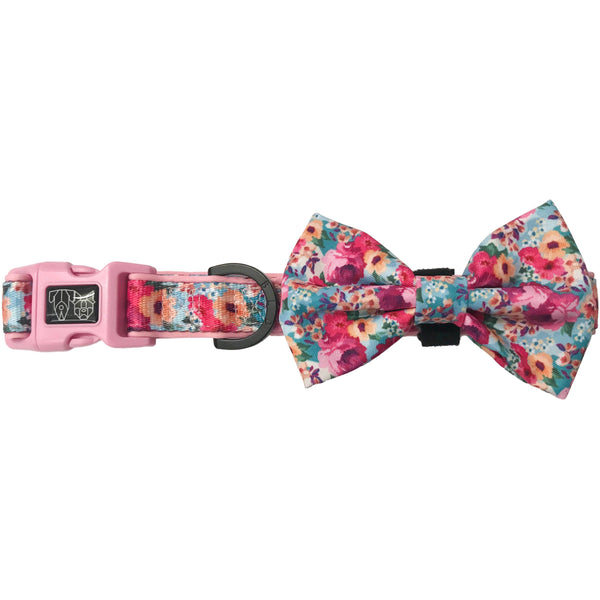 Dog Collar and Bowtie for Big and Small Dogs Floral Affair