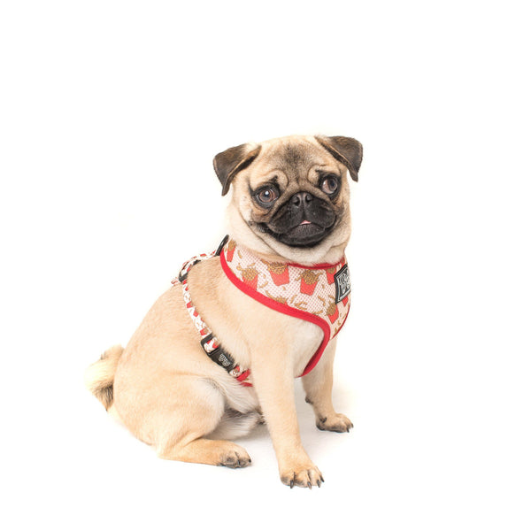 French FryYay Fries Classic Mesh Dog Harness