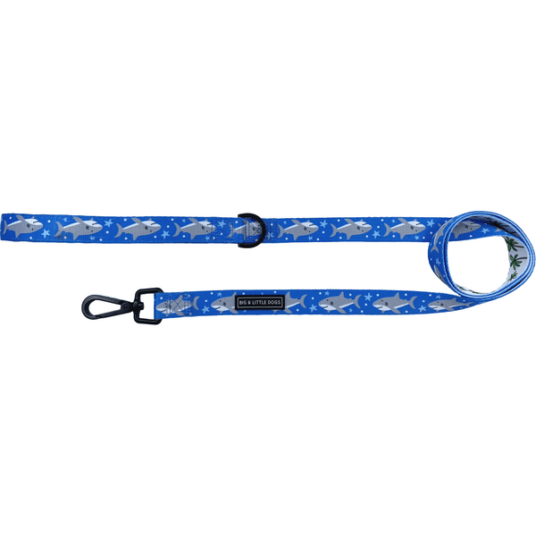 Shark Attack Shark and Palm Comfort Dog Leash