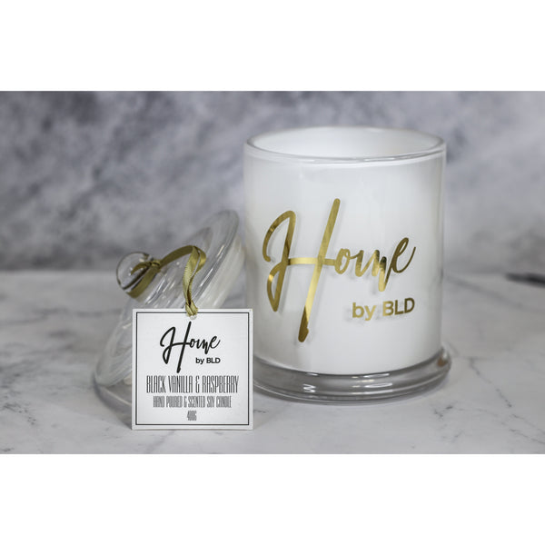 Home by BLD | Black Vanilla & Raspberry Soy Candle