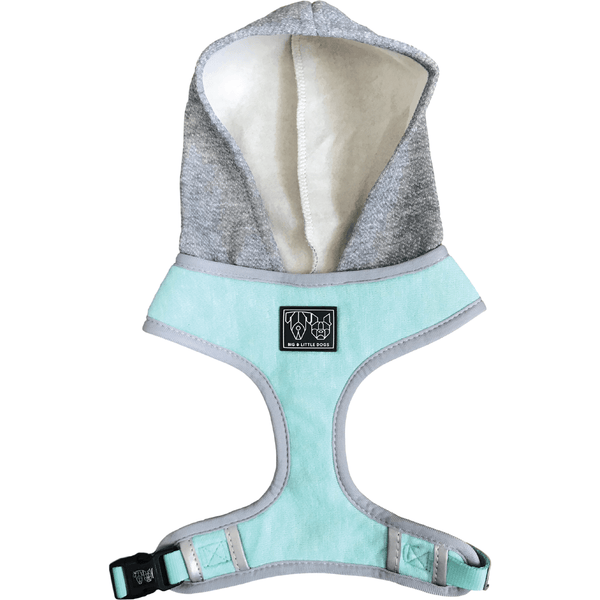 Hoody Dog Harness Classic Teal with Hood