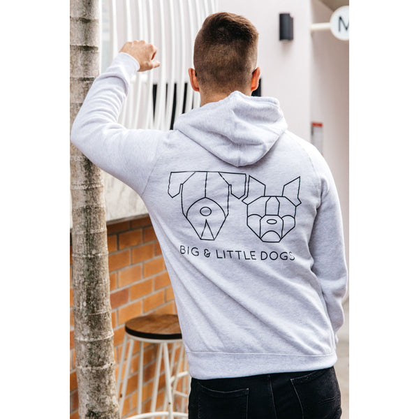 Pawrent BLD Gang Grey Marle Premium Hoody Jumper with BLD Logo