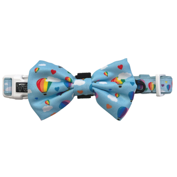 DOG COLLAR & BOW TIE: Up, Up and Away (NEW!)