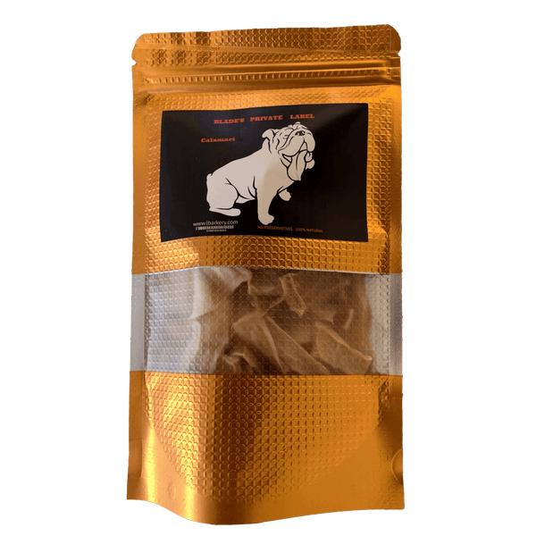 "DOG TREATS L'Barkery ""Blade's Private Label"" Calamari NEW!"
