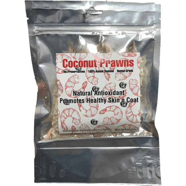 DOG TREATS L'Barkery Coconut Prawns