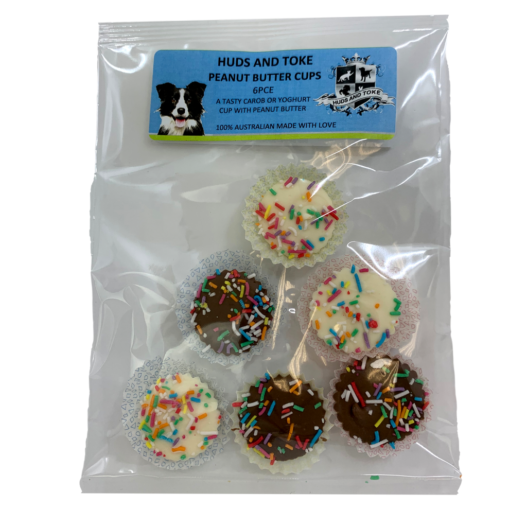 DOG TREATS Huds and Toke Peanut Butter Cups | 6 Pce