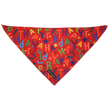 Dog Cooling Neckerchief Bandana Red Birthday