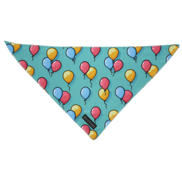 Dog Cooling Neckerchief Bandana Birthday Balloons
