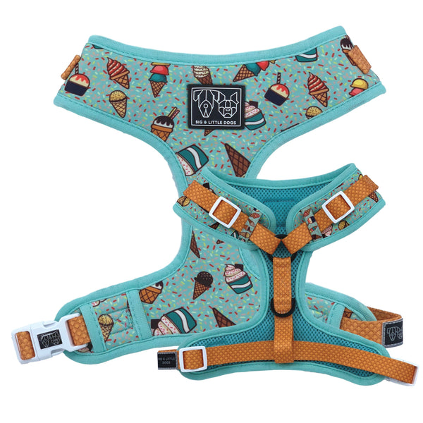 Ice Cream Sundayze Adjustable Dog Harness