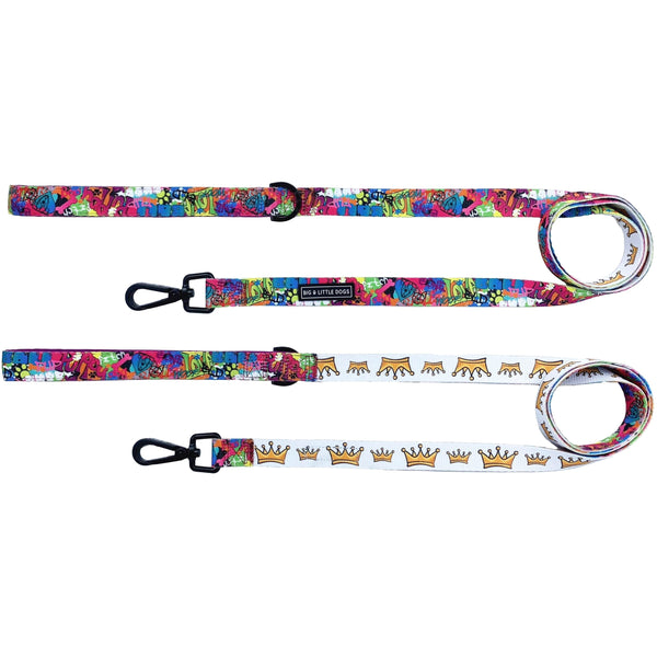 King of Graffiti and Crown Comfort Dog Leash