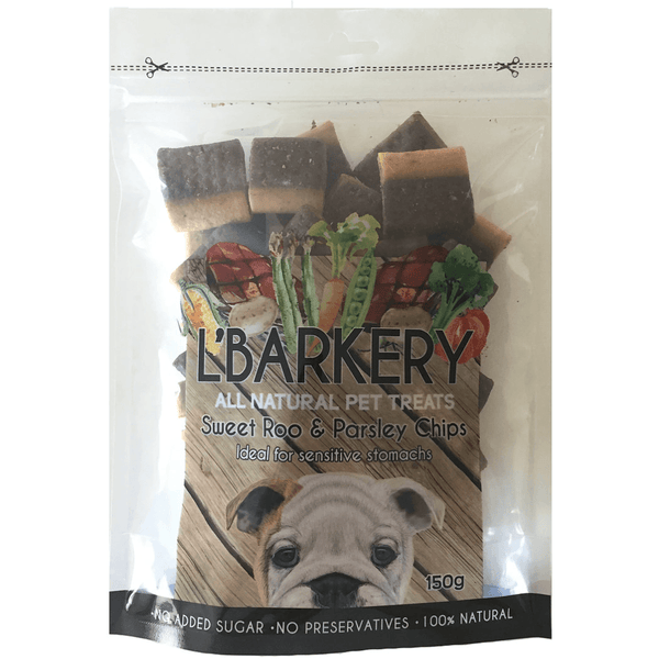 L'Barkery Sweet Roo and Parsley Chips Dog Treats
