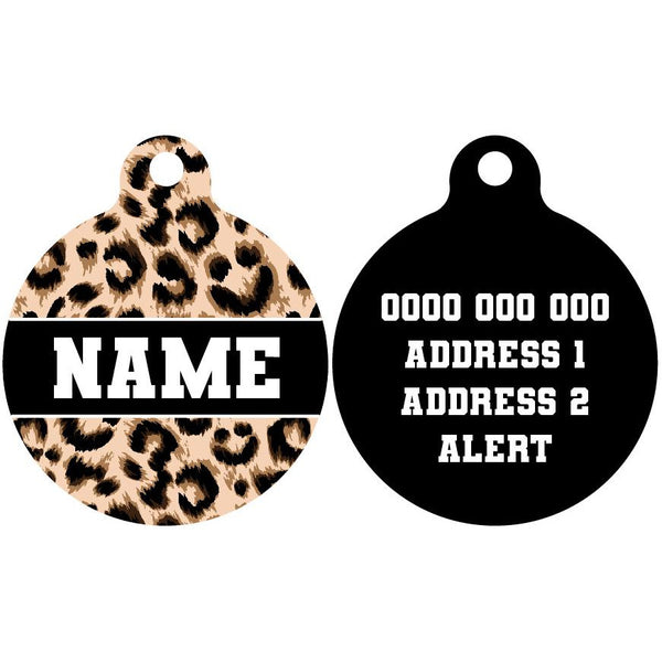 Pet ID Tag | Luxurious Leopard