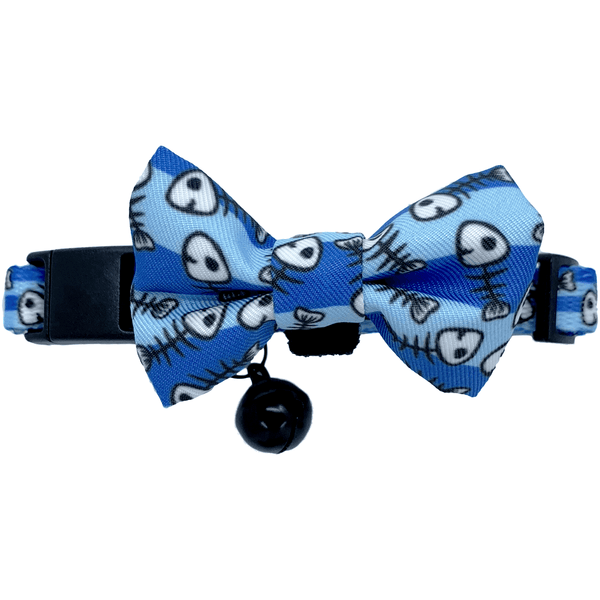 Cat Collar and Bow Tie Off The Hook Fish Skeleton